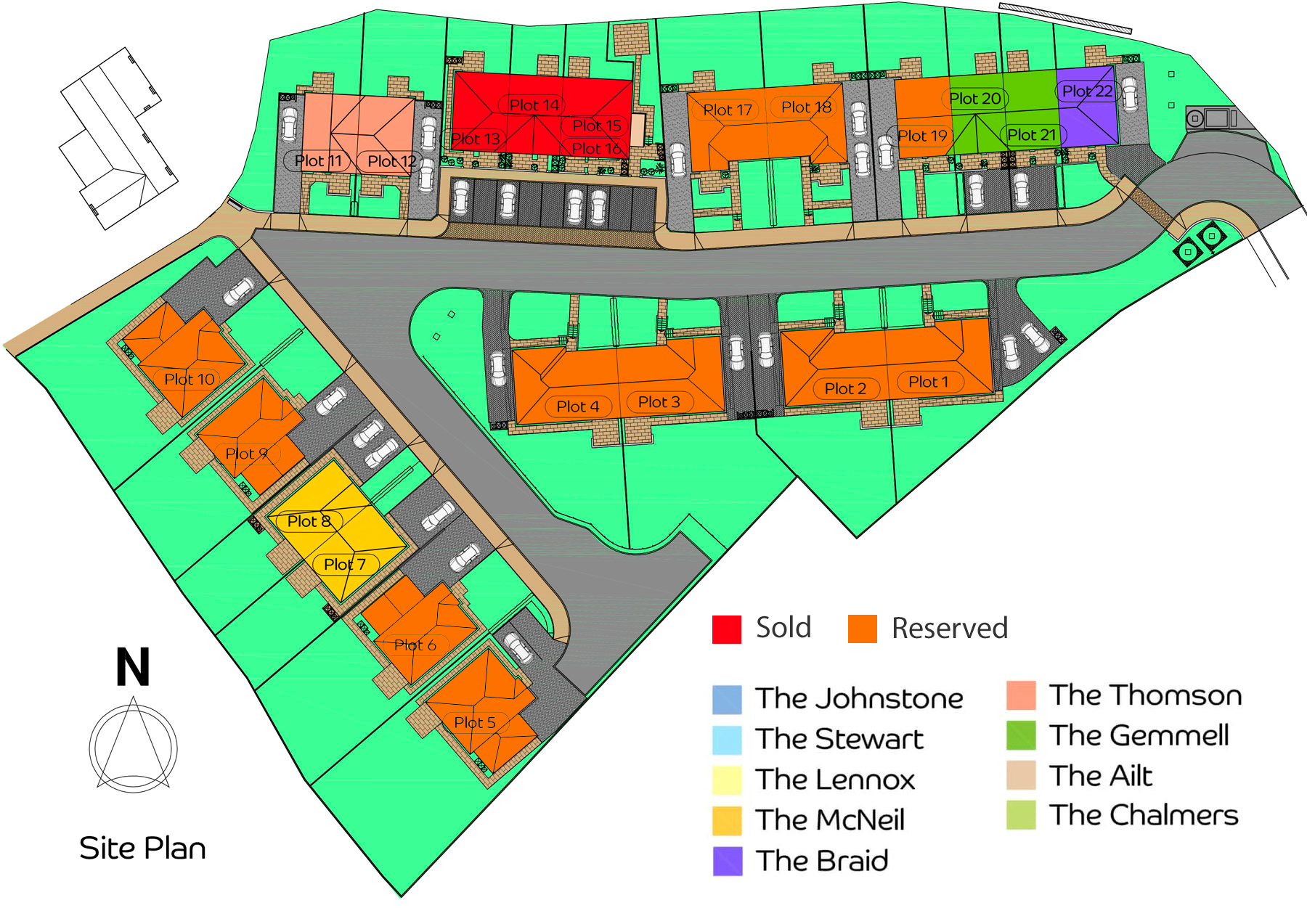Airlie Green Site Plan